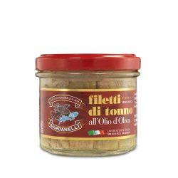 Filetti di tonno in vetro all'olio di oliva 105g